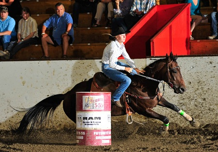Leslie Richards - Barrell Futurity rider Drummondville ec